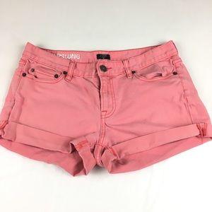 J. Crew Factory hipslung coral short shorts sz 8